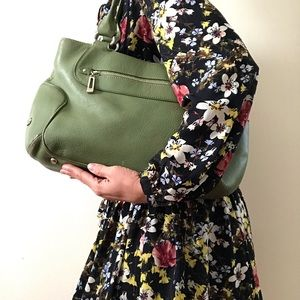 ColeHaan Field Green Leather Shoulder Bag